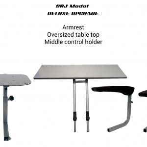 CRJ Simulator Upgrade to Deluxe – armrest, Oversize Table top, Middle Control Holder.