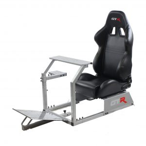 GTA Model Simulator with Silver Frame & Adjustable Racing Seat – Color Options Available