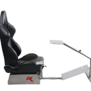 Touring Model with Real Racing Seat, Driving Simulator Cockpit Gaming Chair with Gear Shifter Mount