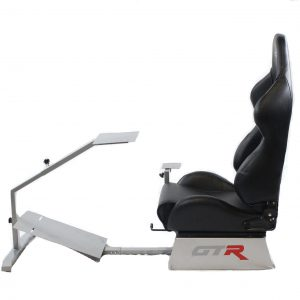 Touring Model Simulator with Silver Frame and Adjustable Leatherette Racing Seat – Color Options Available GTR Pass Discounted