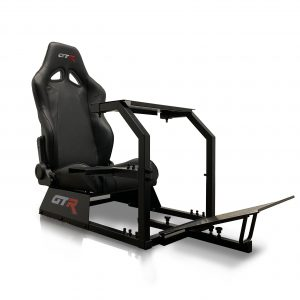 GTA™️ Model Simulator with Black Frame & Adjustable Racing Seat – Color Options Available