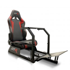 GTA™️ Model Simulator with Black Frame & Adjustable Racing Seat – Color Options Available (Back Order – Available on 03/31/2020)