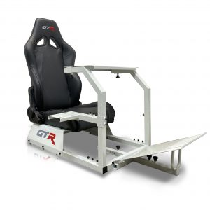 GTA™️ Model Simulator with White Frame & Adjustable Racing Seat – Color Options Available
