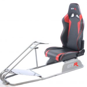 GTS Model Simulator with Diamond Silver Frame Adjustable Leatherette Real Racing Seat – Color Options Available GTR Pass Discounted