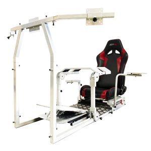 New GTA Pro Simulator (White) – The Latest in Sim Racing – Seat Color Options Available – TAKING PREORDER NOW (Ship date 1/1/2020 )